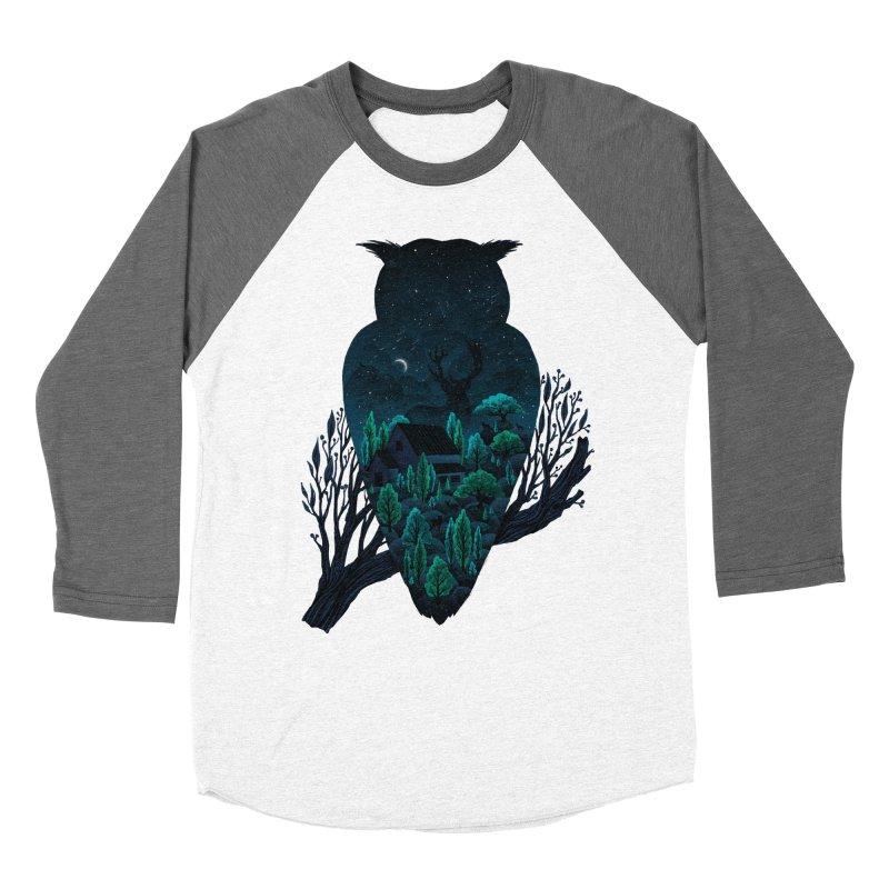 Owlscape Women's Baseball Triblend T-Shirt by Fil Gouvea's Artist Shop