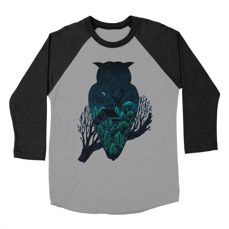 Owlscape Men's Baseball Triblend T-Shirt by Fil Gouvea's Artist Shop