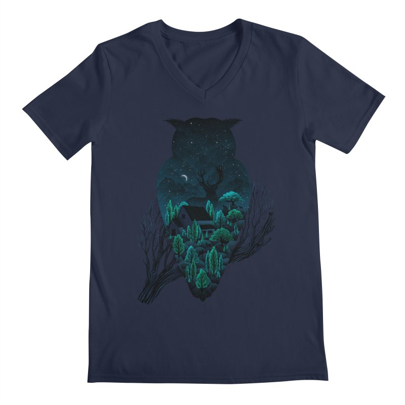 Owlscape Men's V-Neck by Fil Gouvea's Artist Shop