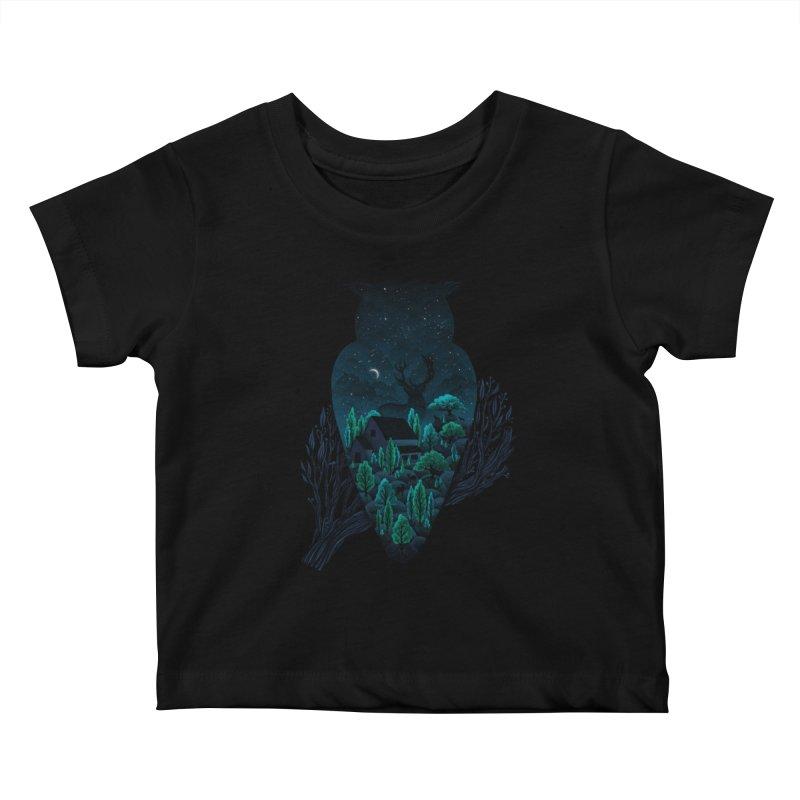 Owlscape Kids Baby T-Shirt by Fil Gouvea's Artist Shop