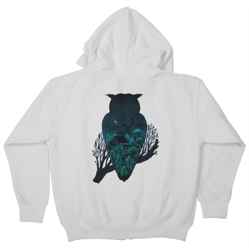 Owlscape Kids Zip-Up Hoody by Fil Gouvea's Artist Shop