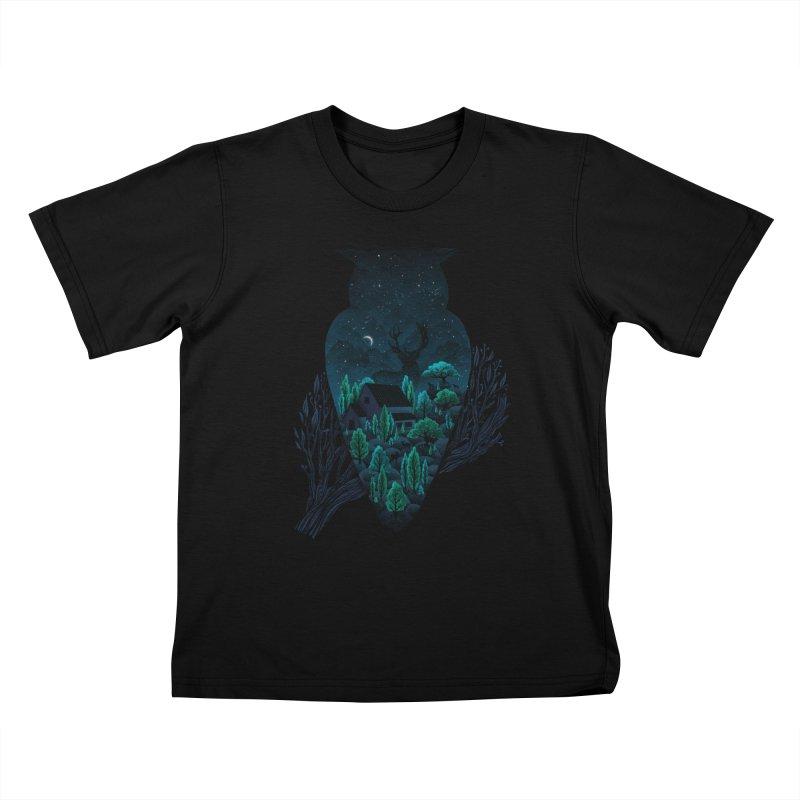 Owlscape Kids T-Shirt by Fil Gouvea's Artist Shop