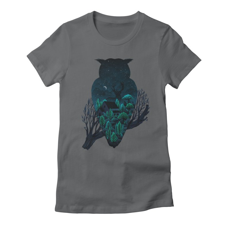 Owlscape Women's Fitted T-Shirt by Fil Gouvea's Artist Shop
