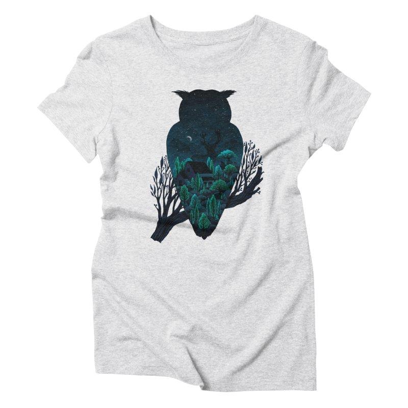 Owlscape Women's Triblend T-shirt by Fil Gouvea's Artist Shop