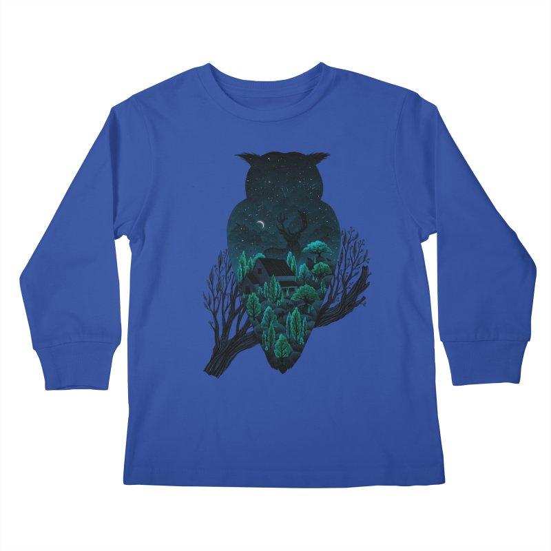 Owlscape Kids Longsleeve T-Shirt by Fil Gouvea's Artist Shop