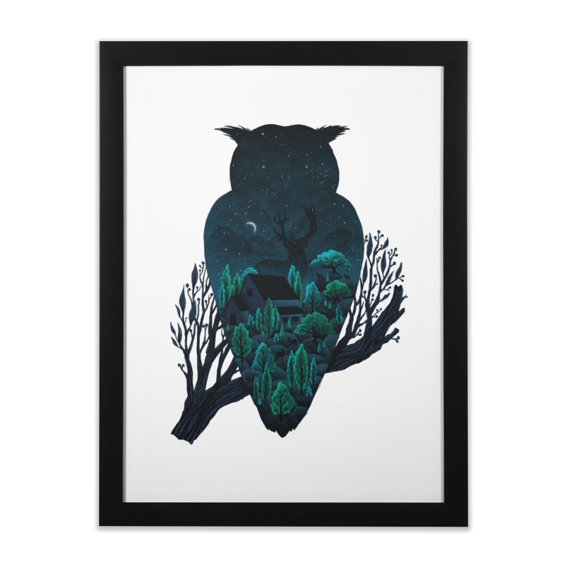 Owlscape Home Framed Fine Art Print by Fil Gouvea's Artist Shop