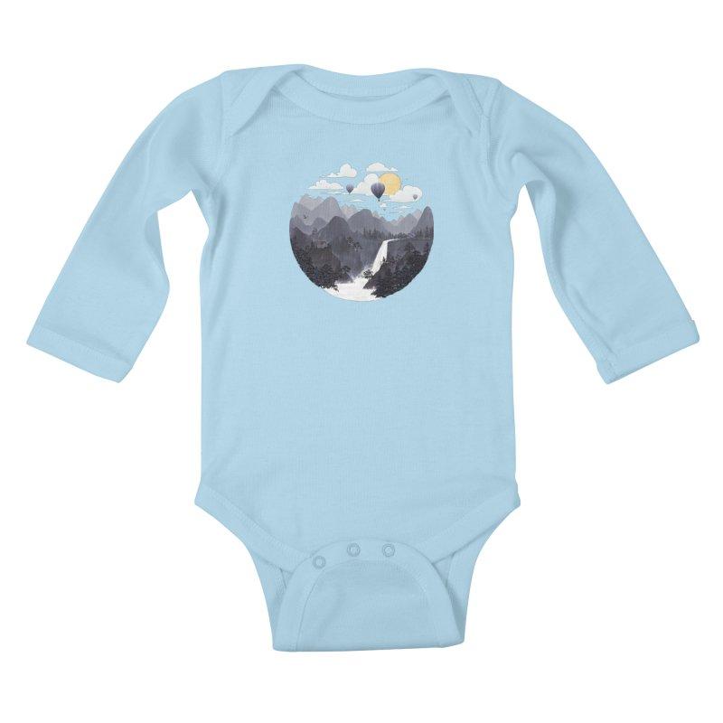 Roundscape II Kids Baby Longsleeve Bodysuit by Fil Gouvea's Artist Shop