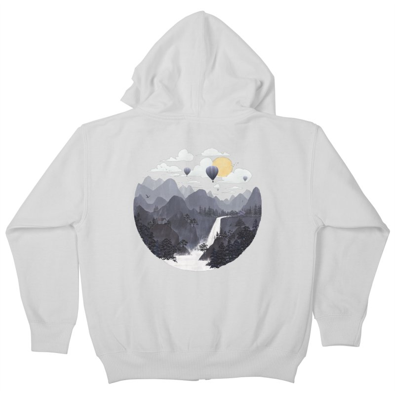 Roundscape II Kids Zip-Up Hoody by Fil Gouvea's Artist Shop