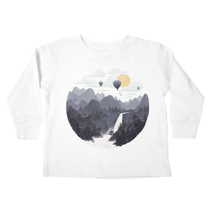 Roundscape II Kids Toddler Longsleeve T-Shirt by Fil Gouvea's Artist Shop