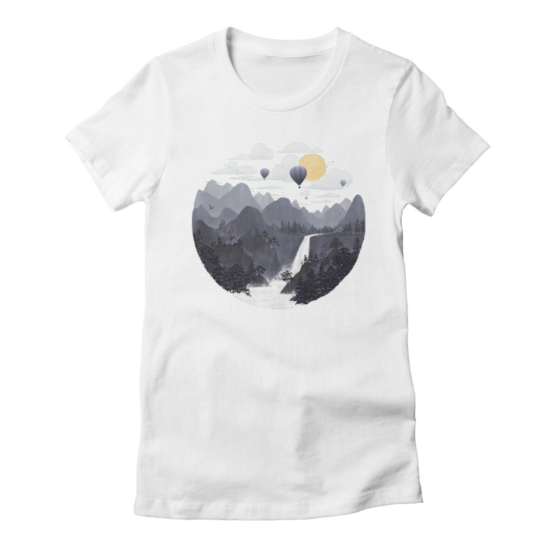 Roundscape II Women's Fitted T-Shirt by Fil Gouvea's Artist Shop