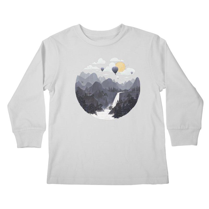 Roundscape II Kids Longsleeve T-Shirt by Fil Gouvea's Artist Shop
