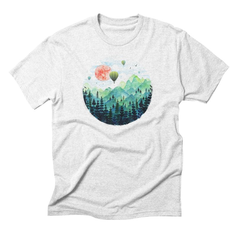Roundscape in Men's Triblend T-shirt Heather White by Fil Gouvea's Artist Shop