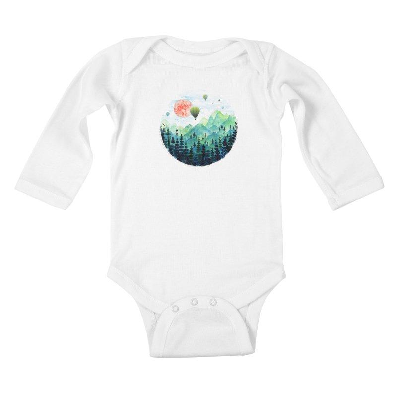 Roundscape Kids Baby Longsleeve Bodysuit by Fil Gouvea's Artist Shop