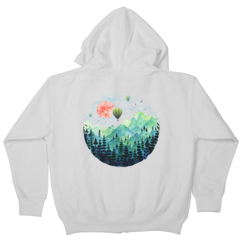 Roundscape Kids Zip-Up Hoody by Fil Gouvea's Artist Shop