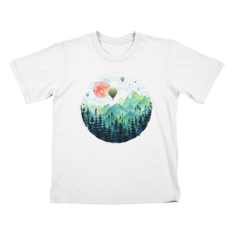Roundscape Kids T-Shirt by Fil Gouvea's Artist Shop