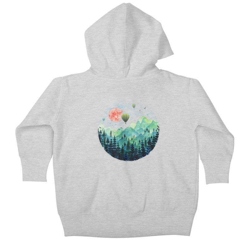 Roundscape Kids Baby Zip-Up Hoody by Fil Gouvea's Artist Shop