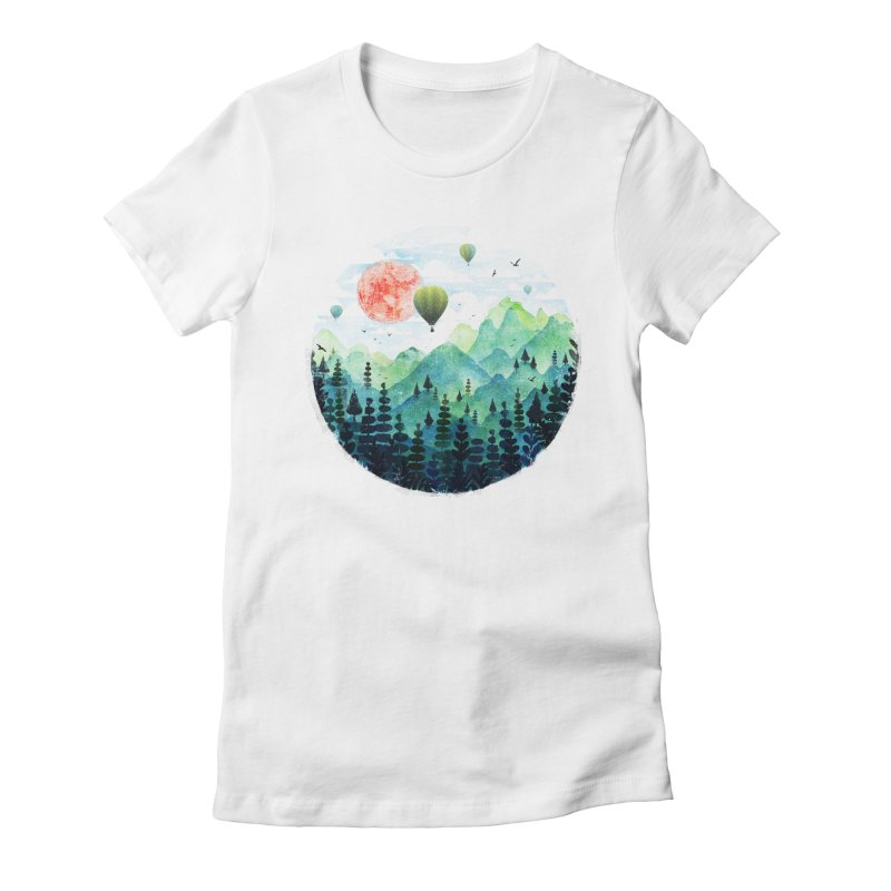 Roundscape Women's Fitted T-Shirt by Fil Gouvea's Artist Shop