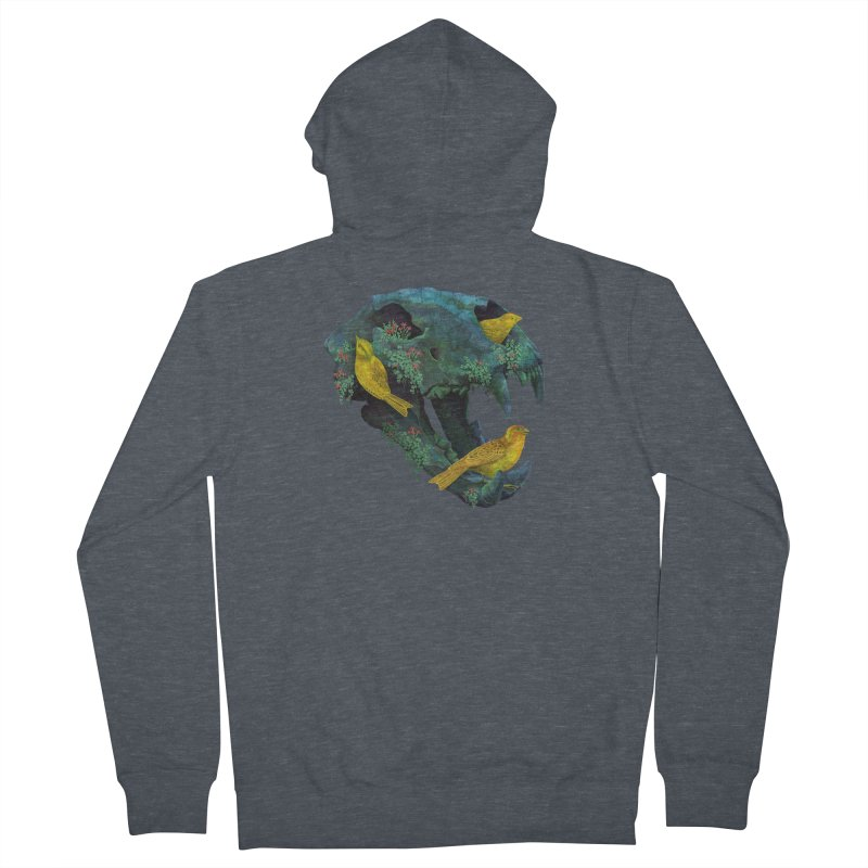 Three Little Birds Women's Zip-Up Hoody by Fil Gouvea's Artist Shop