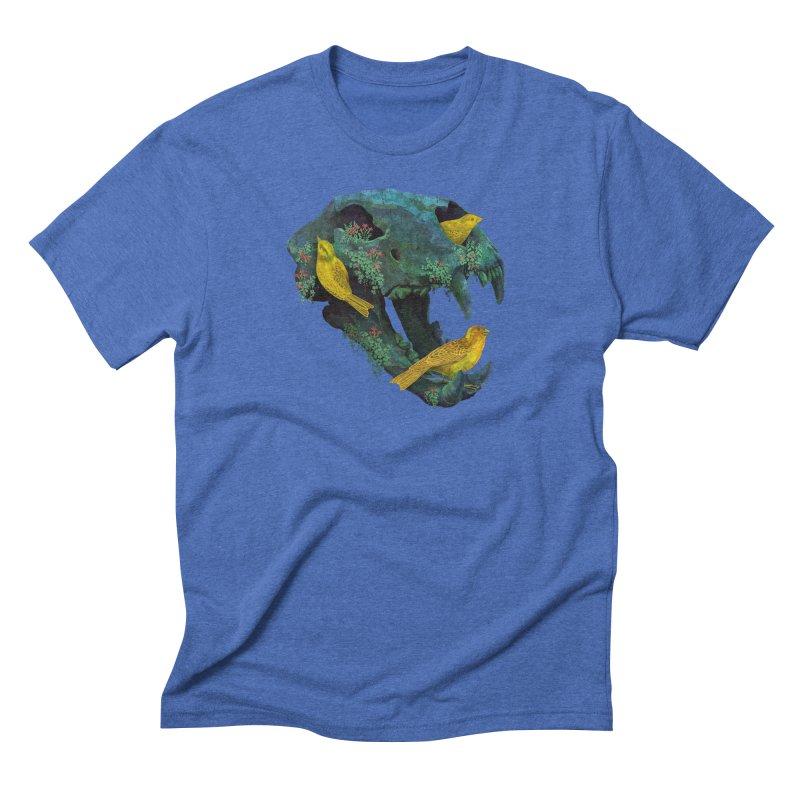 Three Little Birds Men's Triblend T-shirt by Fil Gouvea's Artist Shop