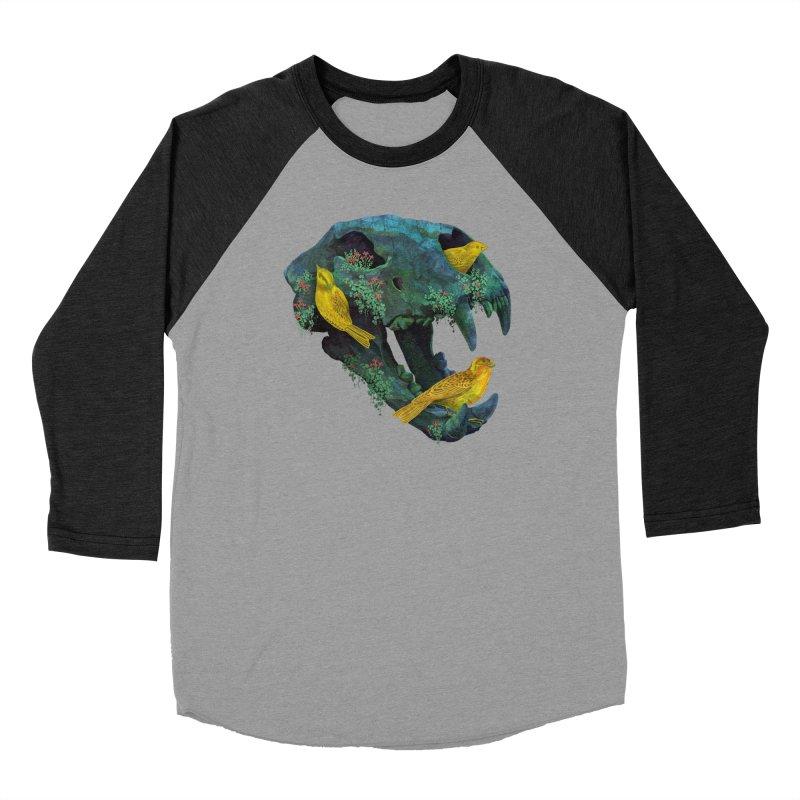 Three Little Birds Women's Baseball Triblend T-Shirt by Fil Gouvea's Artist Shop