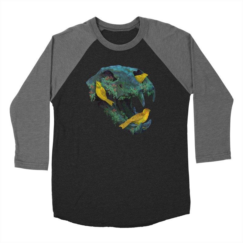 Three Little Birds Men's Baseball Triblend T-Shirt by Fil Gouvea's Artist Shop