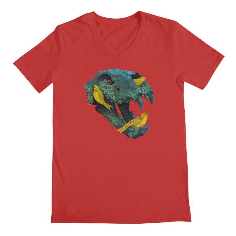Three Little Birds Men's V-Neck by Fil Gouvea's Artist Shop