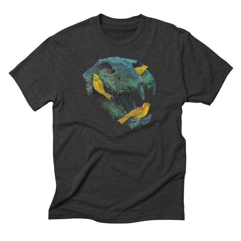 Three Little Birds Men's Triblend T-shirt by Fil Gouvea's Artist Shop