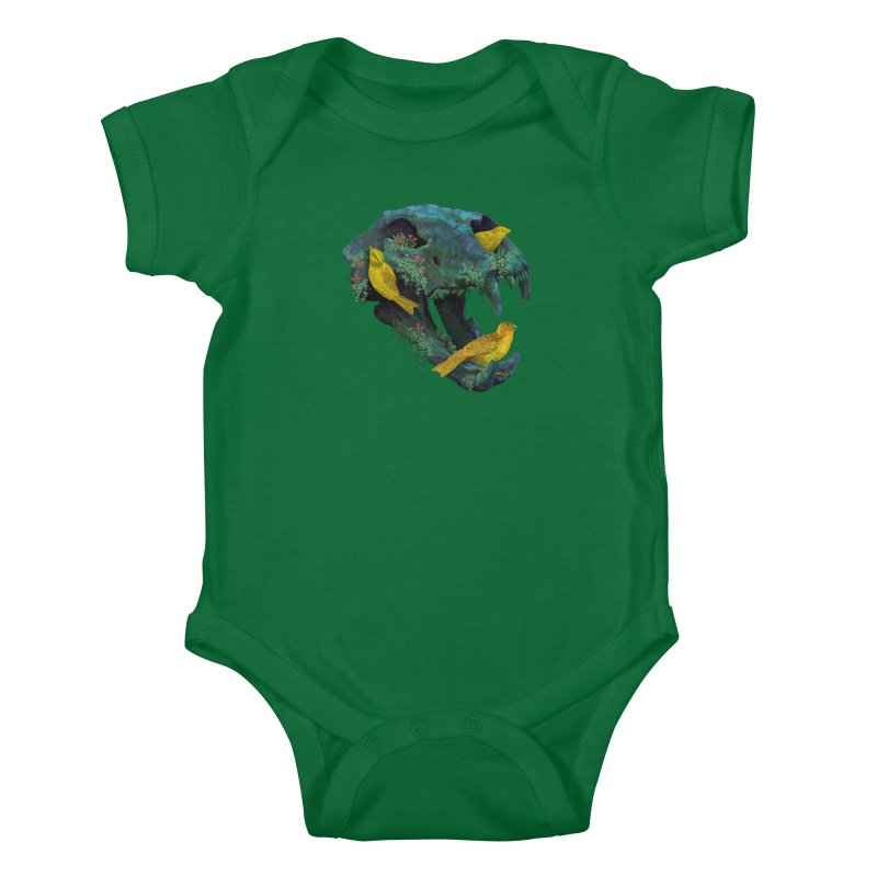 Three Little Birds Kids Baby Bodysuit by Fil Gouvea's Artist Shop