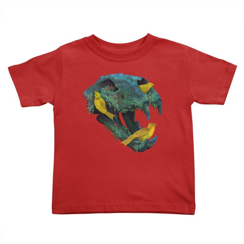 Three Little Birds Kids Toddler T-Shirt by Fil Gouvea's Artist Shop
