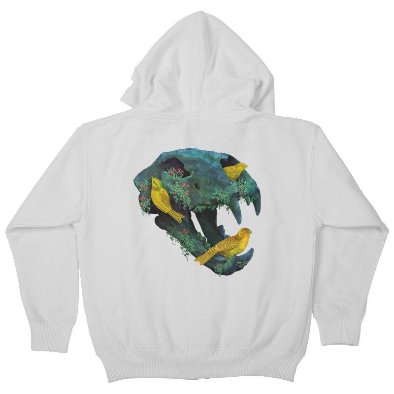 Three Little Birds Kids Zip-Up Hoody by Fil Gouvea's Artist Shop