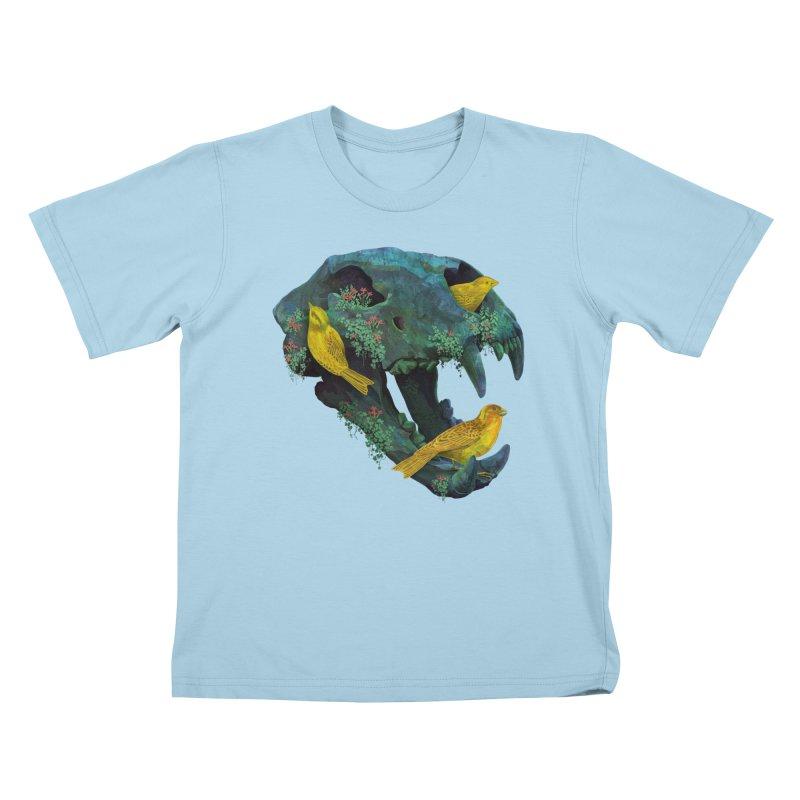 Three Little Birds Kids T-Shirt by Fil Gouvea's Artist Shop