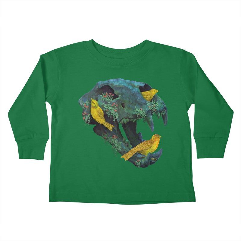 Three Little Birds Kids Toddler Longsleeve T-Shirt by Fil Gouvea's Artist Shop