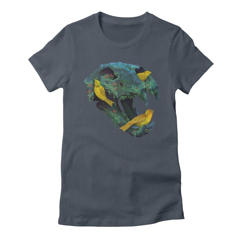 Three Little Birds Women's Fitted T-Shirt by Fil Gouvea's Artist Shop