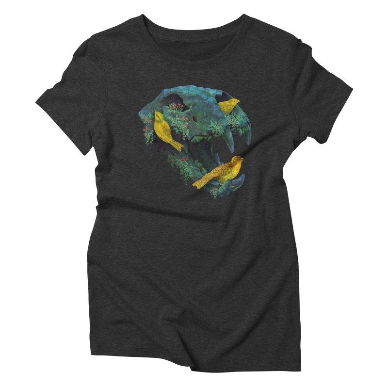 Three Little Birds Women's Triblend T-shirt by Fil Gouvea's Artist Shop