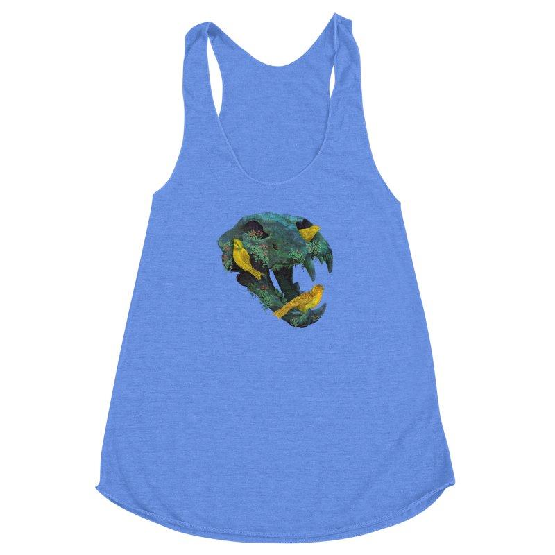 Three Little Birds Women's Racerback Triblend Tank by Fil Gouvea's Artist Shop