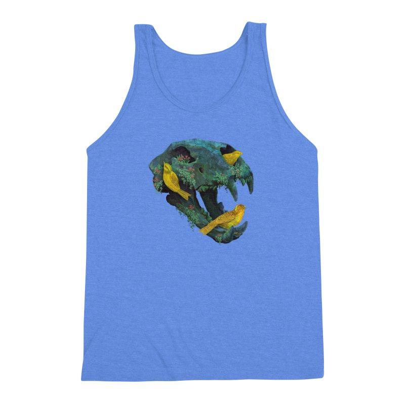 Three Little Birds Men's Triblend Tank by Fil Gouvea's Artist Shop