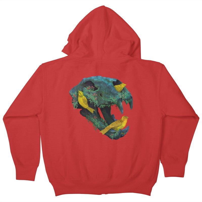 Three Little Birds Kids Zip-Up Hoody by Fil Gouvea's Artist Shop