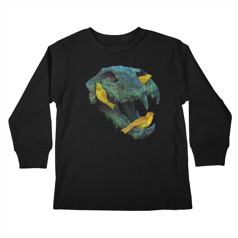 Three Little Birds Kids Longsleeve T-Shirt by Fil Gouvea's Artist Shop