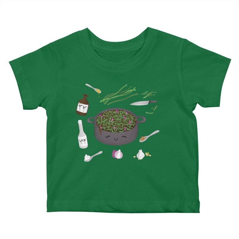Adobong Sitaw Kids Baby T-Shirt by Filipeanut Sari-Sari Store