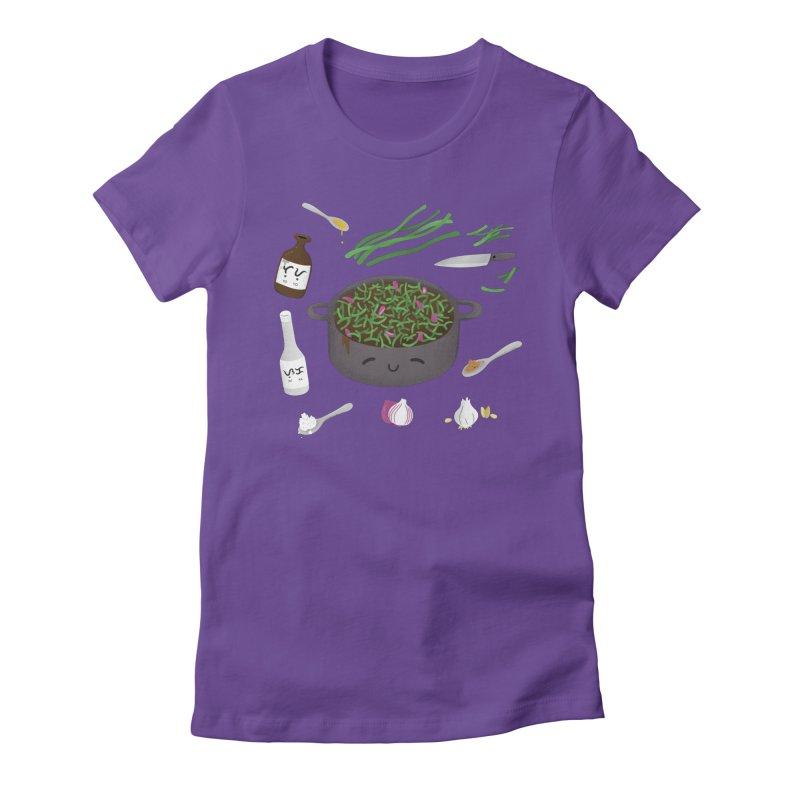 Adobong Sitaw Women's Fitted T-Shirt by Filipeanut Sari-Sari Store