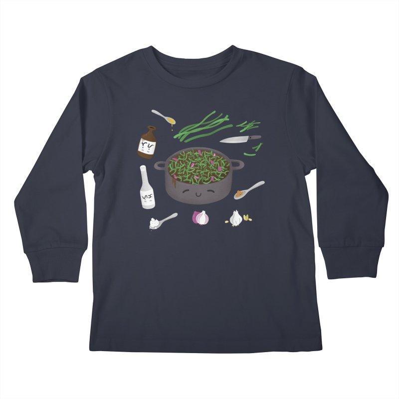 Adobong Sitaw Kids Longsleeve T-Shirt by Filipeanut Sari-Sari Store