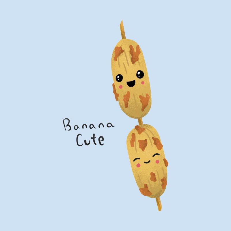 Banana cute Women's T-Shirt by Filipeanut Sari-Sari Store