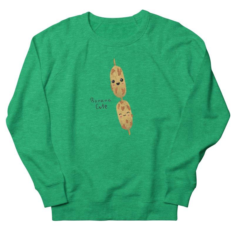Banana cute Women's French Terry Sweatshirt by Filipeanut Sari-Sari Store