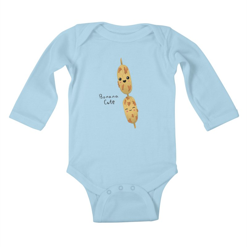 Banana cute Kids Baby Longsleeve Bodysuit by Filipeanut Sari-Sari Store