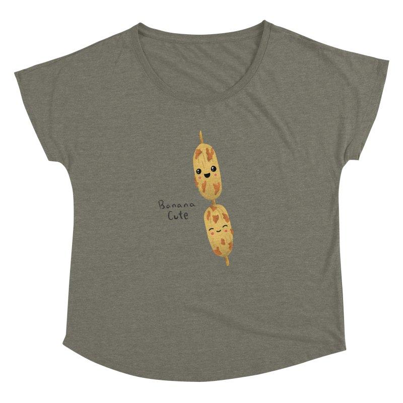 Banana cute Women's Scoop Neck by Filipeanut Sari-Sari Store