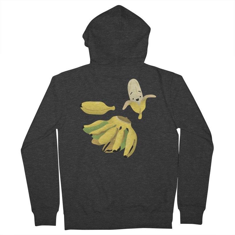 Saba bananas Women's Zip-Up Hoody by Filipeanut Sari-Sari Store