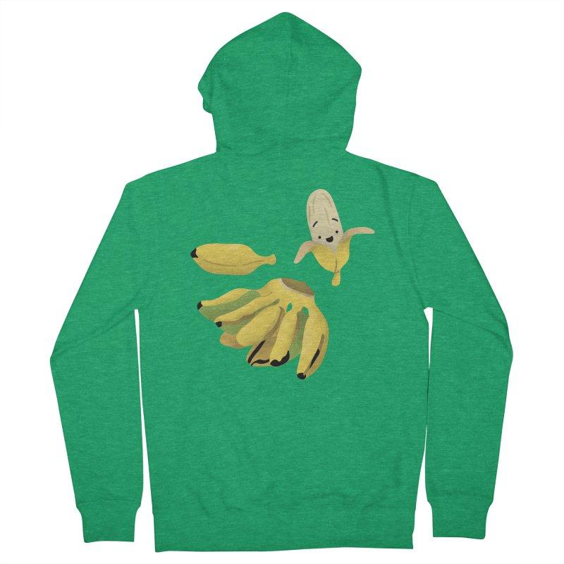 Saba bananas Men's Zip-Up Hoody by Filipeanut Sari-Sari Store
