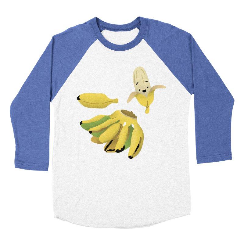 Saba bananas Women's Baseball Triblend Longsleeve T-Shirt by Filipeanut Sari-Sari Store