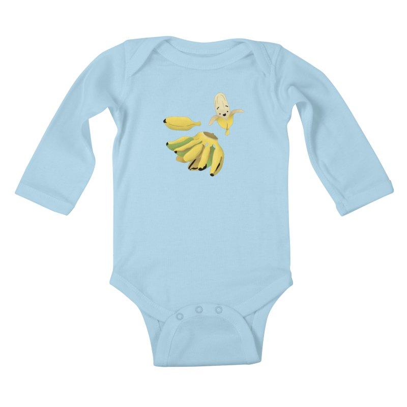 Saba bananas Kids Baby Longsleeve Bodysuit by Filipeanut Sari-Sari Store