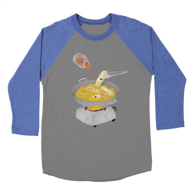 Cooking banana cue Women's Baseball Triblend Longsleeve T-Shirt by Filipeanut Sari-Sari Store